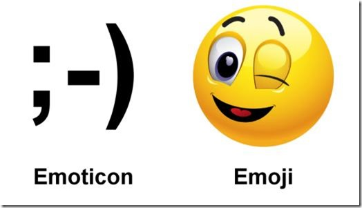Emoticon vs emoji