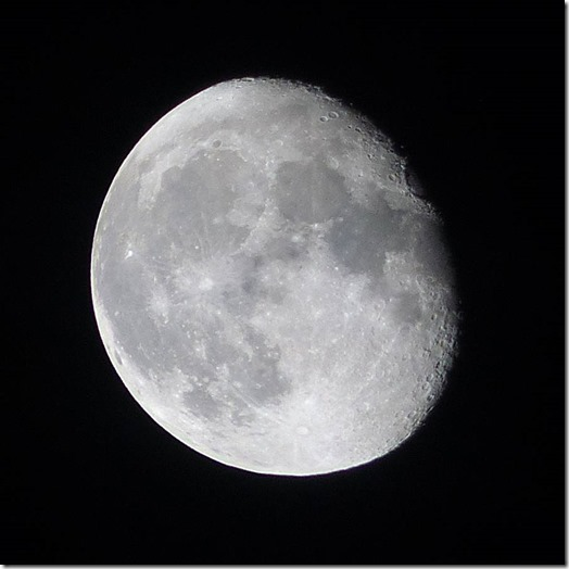 The moon on 1st October 2015