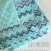 Self-binding Baby Blanket Tutorial