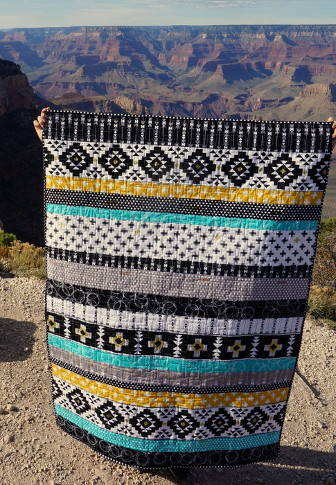 Four Corners quilt at the Grand Canyon