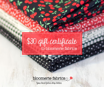 Gift Certificate - Bloomerie Fabrics