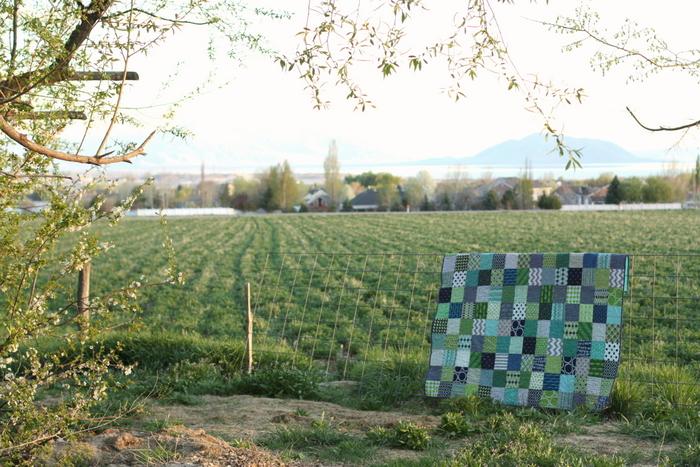 Spring patchwork quilt