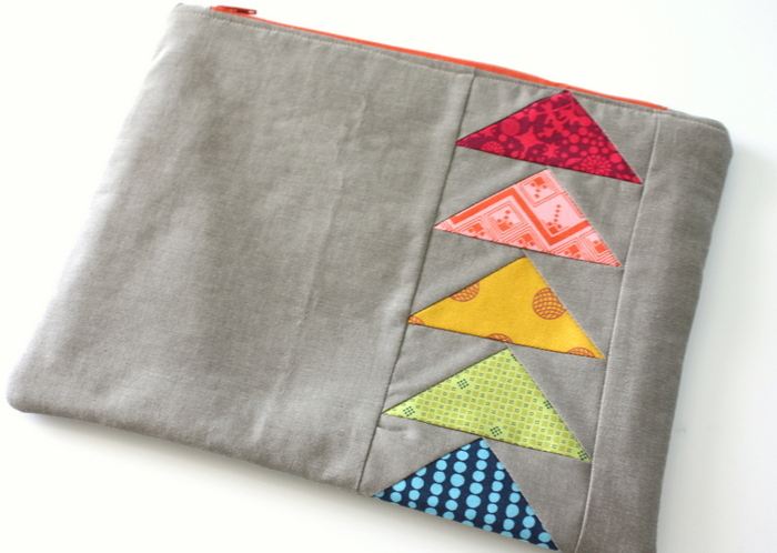 Flying Geese zipper pouch