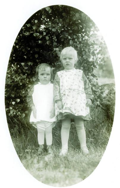 My mother and her sister near Kuusankoski