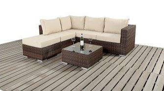 Rattan Furniture Small Corner Sofa Set