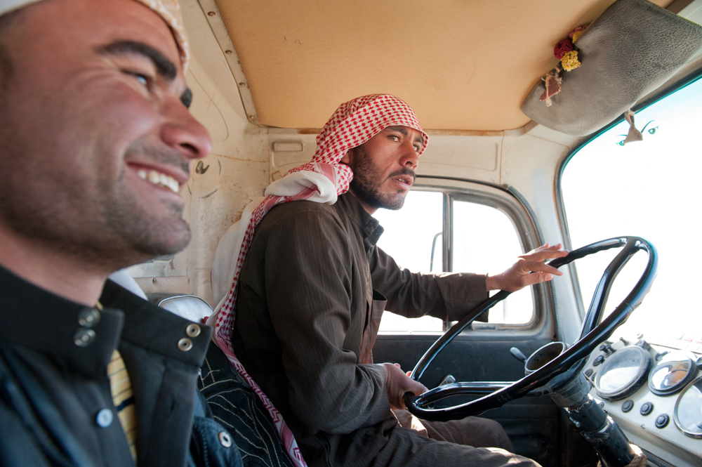 Driving in the Desert, Palmyra, Syria
