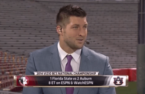Tim Tebow ESPN Set BCS title