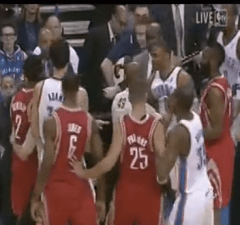 Westbrook and Beverly fight
