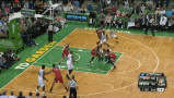 Phil Pressey amazing between-the-legs pass to Brandon Bass