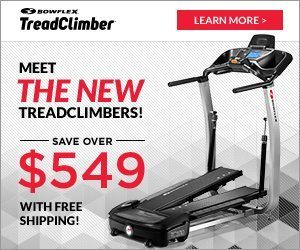 New Bowflex Treadclimbers T100 and T200 with Interactive Consoles