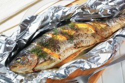 Howling Dill Baked Trout Lemon Baked Trout Lemon Dill Digifoodstock Grilled Trout Recipes Fillet Grilled Sea Trout Recipes