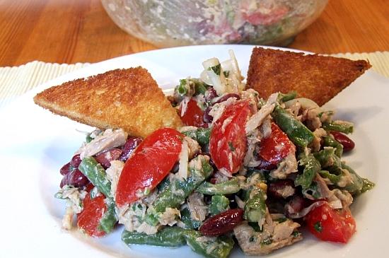Foto: Zweierlei-Bohnen-Salat mit Thunfisch