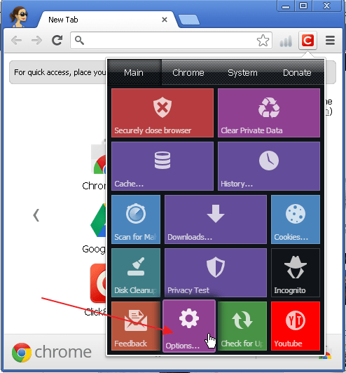 how to delete recently closed history on chrome
