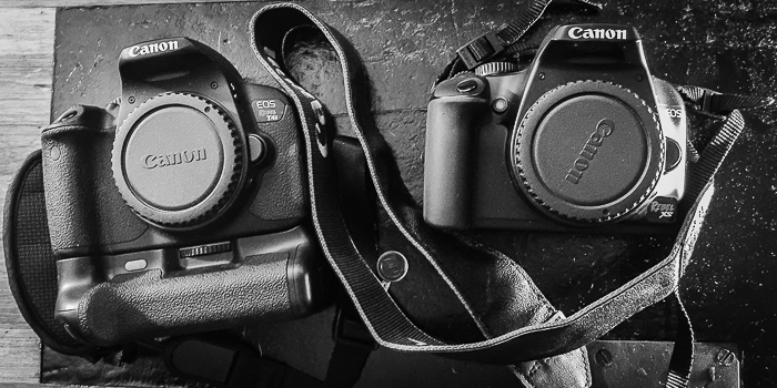 Canon Rebel XS and t4i together