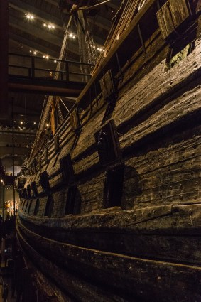 The ship, preserved because of Stockholm key's briny water, sat undisturbed for centuries. July 2015.