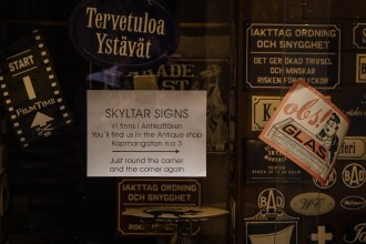 A storefront in Stockholm's Gamla Stan. July 2015.