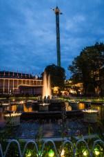 Fountains at Night in Tivoli Gardens