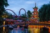 Tivoli Pagoda with Lights
