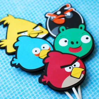 angry birds cupcake topper