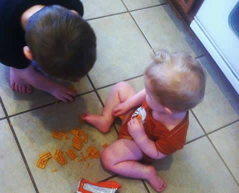 toddler mess