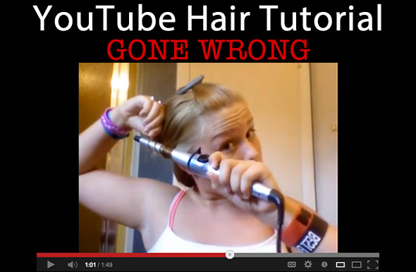 youtube hair tutorial fail