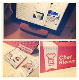 chef sleeve ipad kitchen standd