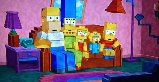 Meet the Simpsons on MINECRAFT!