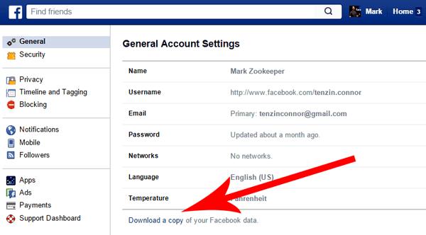 Facebook Restore deleted photos