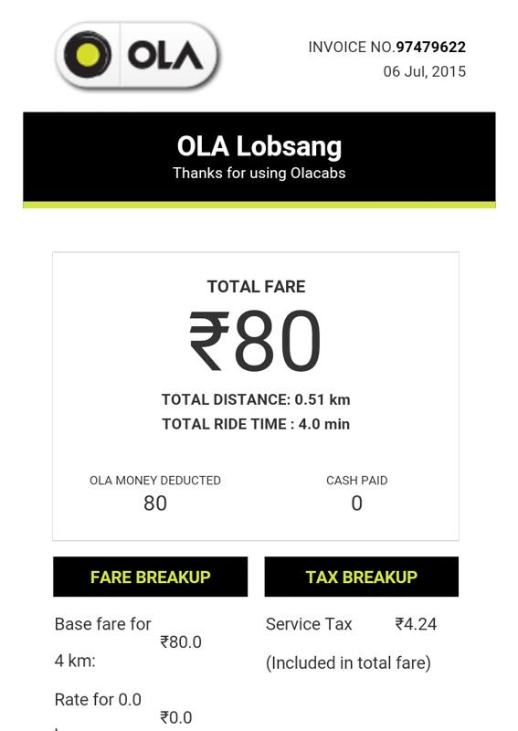 Ola Cab Driver Overcharge