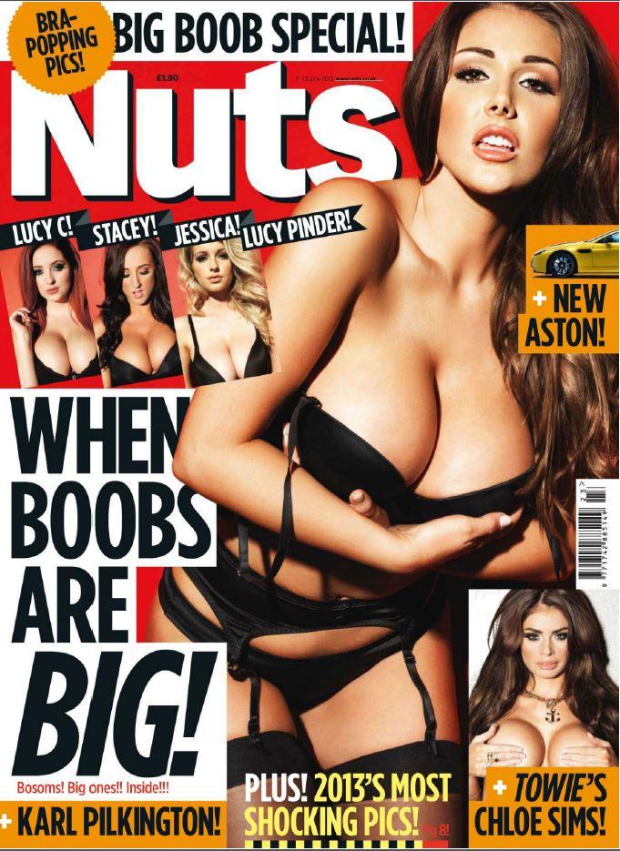 Boobs front magazine big