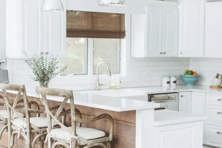 reclaimed wood could add an interesting touch to your kitchen isle
