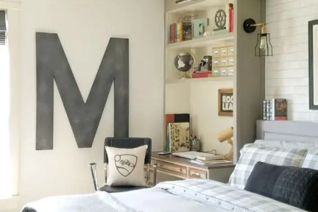 03 industrial vintage teen boy bedroom with a gorgeous comfy bed and a soft headboard