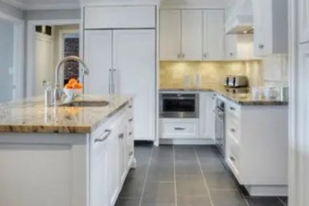 02 modern kitchen with grey floor tiles