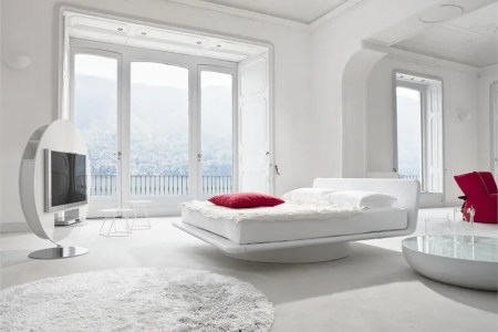 leather bed for white bedroom design giotto by bonaldo 1