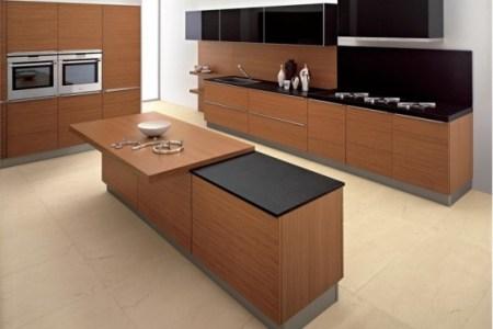 modern kitchen in wooden finish 1