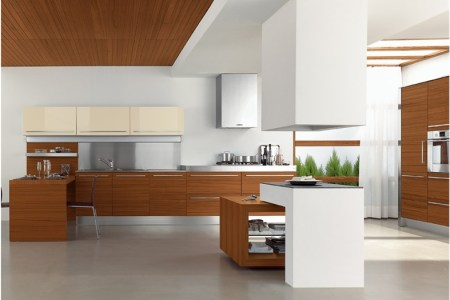 modern kitchen in wooden finish 15