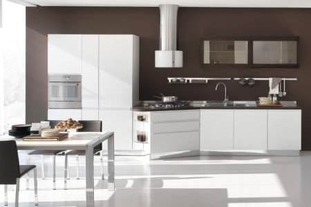 new modern kitchen design with white cabinets bring from stosa 3