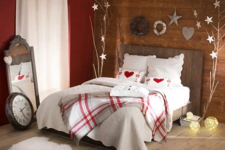 adorable christmas bedroom decor ideas 15