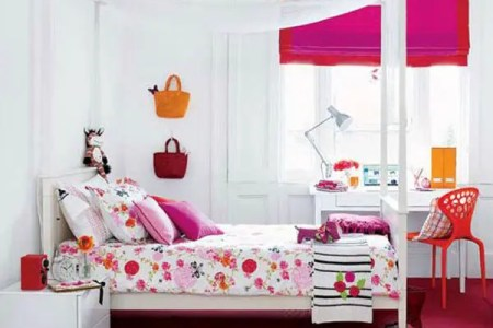 bright pink girl room