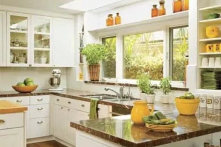 cheerful summer interiors green and yellow kitchen designs 19