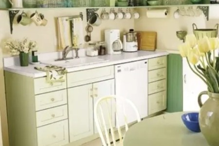 cheerful summer interiors green and yellow kitchen designs 311