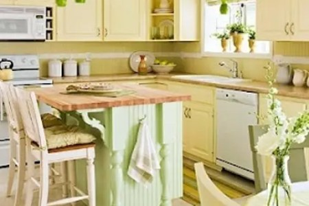 cheerful summer interiors green and yellow kitchen designs 46