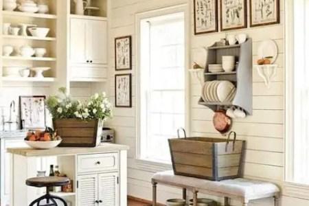 cozy and chic farmhouse kitchen decor ideas 11