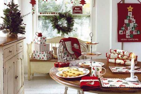 cozy christmas kitchen decor ideas 13