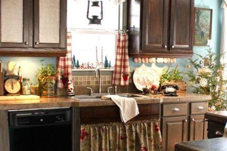 cozy christmas kitchen decor ideas 19