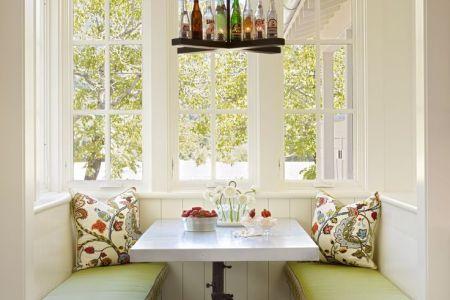 cute and cozy breakfast nook decor ideas 37