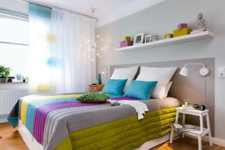 dynamic and colorful ikea bedroom renovation 1