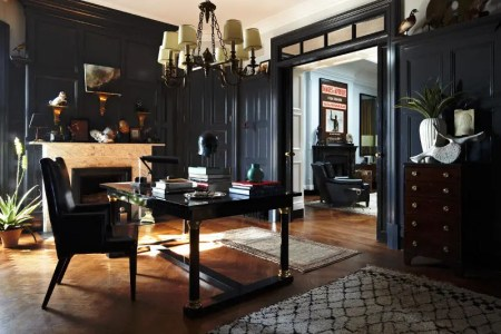 elegant dark interior in the 20s style 1
