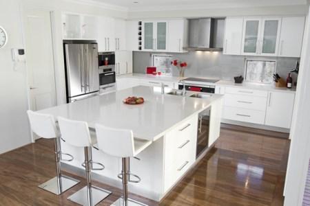 glossy white kitchen 2008