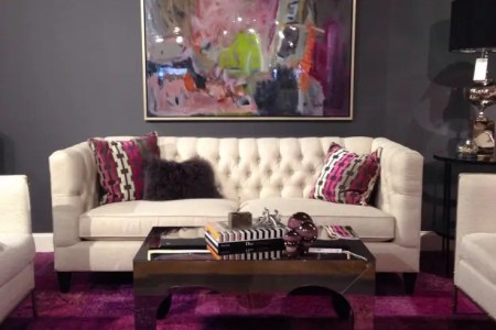 metallic grey and bold pink home decor ideas 23